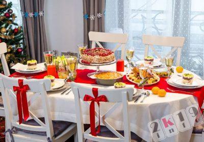 Украшение и сервировка стола на Новый 2019 год