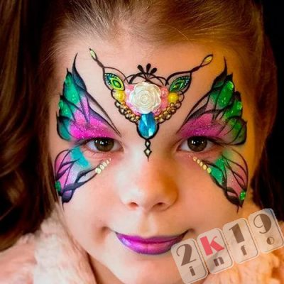 Детский аквагрим на Новый 2019 год -рисуем сказку