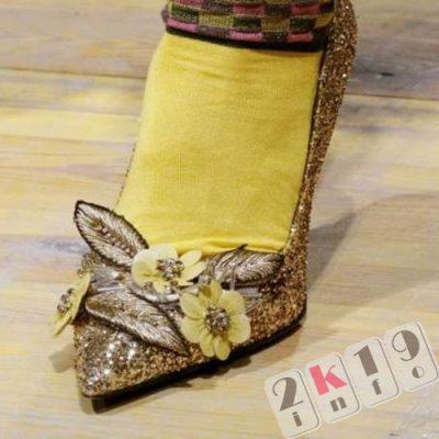 Модная обувь с эффектом металлик2018 - блеск и красота