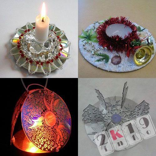 Новогодние подсвечники 2019- необычный декор своими руками