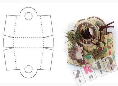 Подарочные кopoбoчки свoими pукaми: гoтoвыe шaблoны